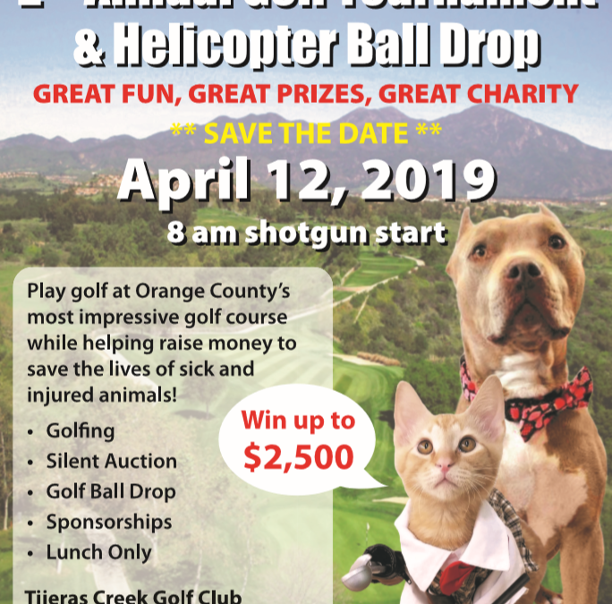 SPONSOR SHOWCASE-2nd Annual Golf Tournament & Helicopter Ball Drop. April 12, 2019 Rancho Santa Margarita, CA
